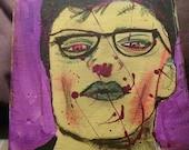 James Dean hipster pop Art Zombie original painting on canvas