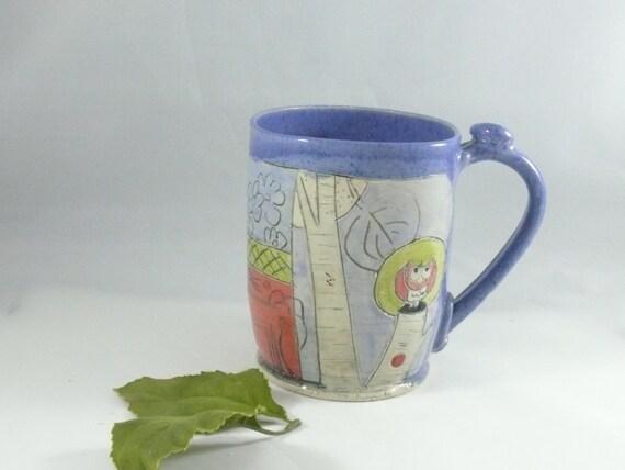 Unique Coffee Mugs Handmade Ceramic Cup By Blueskypotteryco