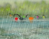 greetings card: 'Nice Weather for Rubber Ducks' - art card, open water swimming, triathlon