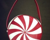 Candy Stripe White Stripes purse CUSTOM ORDER