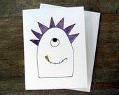 Monster Card with Envelope - blank inside