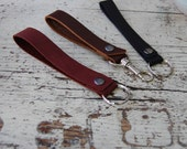 Leather Key Strap / Handmade Leather Accessories / Leather Key Chain / Simple Handmade Key Chain
