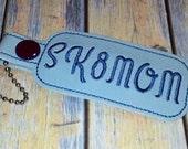 Sk8MOM Key Fob Bag Tag