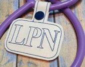 Custom LPN Stethoscope Tag