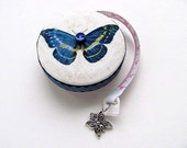 Tape Measure With Blue Butterflies Retractable Measuring Tape