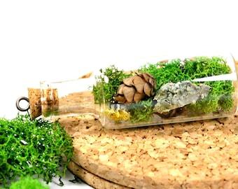 Terrarium Jewelry - Botanical Necklace - Woodland Moss Pendant - Gift for Nature Lover - Terrarium Necklace - Moss Pendant for Necklace