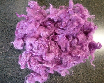 Orchid Hand Dyed Kid Mohair Locks One Ounce