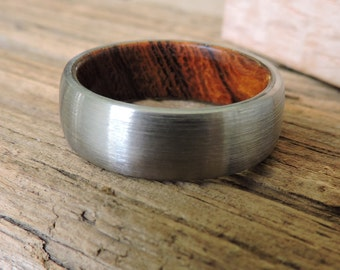 Titanium Ring, Wedding Ring, Wood Ring, Mens Ring, Womens Ring, Handmade Ring, Custom Made Ring, Wedding Band, Engagement Ring, RobandLean