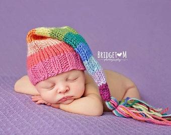 Grace - Rainbow Baby Tassel Hat