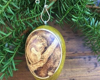 Church Cat Ornament egg gourd