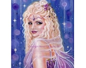 open edition aceo trading card Sugar plum fairy  2.5x3.5 inches by renee