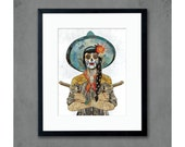 Day of the Dead Cowgirl / Vaquera Sudoeste Print by Dolan Geiman