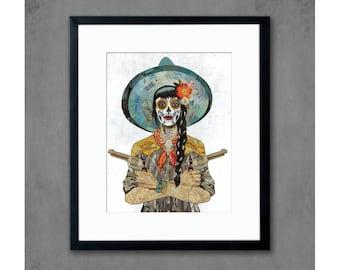 Vaquera Art Print