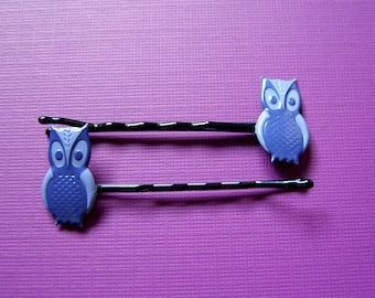 It's Owl Good, Purple Owl Bobby Pins, Hair Accessories, Hair Pins, Woodland Bird, Barettes, Hair Flair, Hair Care