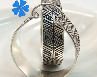 Iriquois Pipe hoop earrings SS