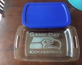 Game Day Kickasserole Baking dish With Lid, Casserole Dish, Customized Casserole, Custom Baking dish