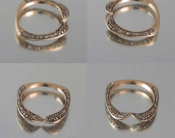 RESERVED for K. - 1st payment - COUNTESS 14K rose gold wedding band
