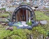 Fairy Door, Stained Glass Mosaic, 3D Sculpture, Diorama, Fairy House, Woodland Sculpture, Home Decor, Fae Faerie Portal, The Forest Floor