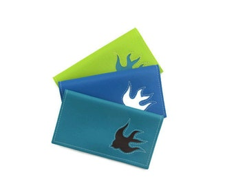 Duplicate Checkbook Cover with Bird Sparrow Swallow Dove by Tender Roni *Choose Your Own Colors* Available for Top and Left Tear Checks