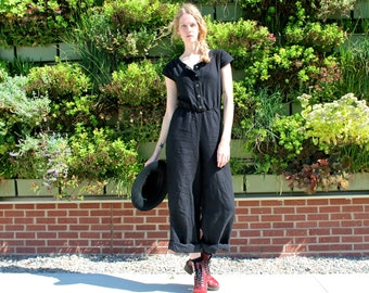 Organic Linen Riva Snap Jumpsuit