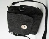 black backpack bag, crossbody sling bag, backpack purse, backpack handbag, messenger bag, zipper bag, fit Ipad, ready to ship