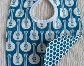 Blue guitar bib