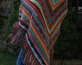 Crochet PowWow Shawl Wrap