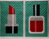 Lipstick and Nail Polish Quilt