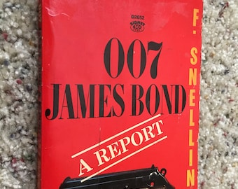 Vintage 007 James Bond A Report Book