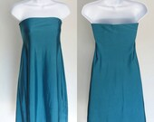 Teal Strapless Swing Dress - XS/Small