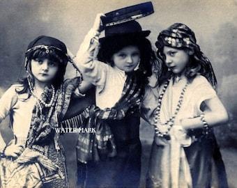 Gypsy children*O darling*Bohemian**BOHO*Quilt art fabric block*Quilts,Pillows,Sachets,Frame