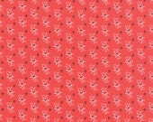 "19"" piece/remnant - Farmhouse - Calico Blossom in Tomato: sku 20254-11 cotton quilting fabric by Fig Tree and Co for Moda Fabrics"