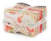 SALE - Farmhouse Fat Eighth Bundle by Fig Tree and Co for Moda Fabrics, 40 9 inch X 22 inch strips