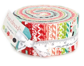 Handmade Jelly Roll by Bonnie and Camille for Moda Fabrics, 40 2.5 inch strips