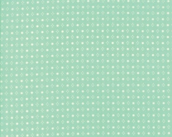 """29"""" piece/remnant - Handmade - Spots in Aqua: sku 55143-12 cotton quilting fabric by Bonnie and Camille for Moda Fabrics"""