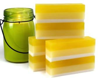Pineapple Cake Buttermilk Soap, Cake Scented Glycerin Soap Bar