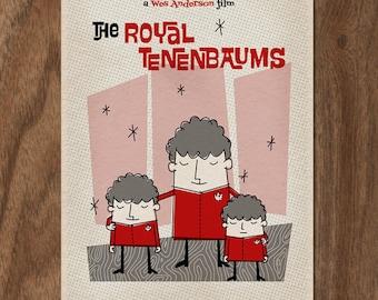 THE ROYAL TENENBAUMS Limited Edition Movie Print - Mid Century
