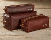 Arizona Leather Dopp Kit with Free Monogram - 3 Sizes