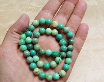 Grass Opal beads—8mm rounds