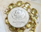 """ON SALE yellow statement necklace, Anna Wintour necklace, collet necklace, georgian paste, citrine necklace, regency jewelry """"Lumière du Sol"""