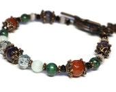 Lily's Wish gemstone bracelet for Rheumatoid Arthritis, Wellness Jewelry, Copper, Holistic Healing, RA, Well-Being bracelet