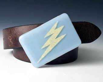 Fused Glass Bolt Buckle