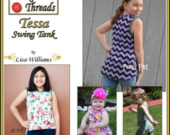 INSTANT DOWNLOAD: Tessa Swing Tank Top - DiY Tutorial PdF eBook Pattern - Sizes 12M to 16
