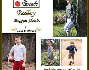 INSTANT DOWNLOAD: Bailey Baggie Shorts - diy Tutorial pdf eBook Pattern - Sizes 12M - 14