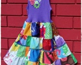 SALE Girls Spirited Rainbow Patchwork Dress size 2