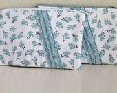 Baby Blue with Gray and credit card, cash wallet, zipper pouch. Teal and Mint purse with zipper. Padded. -Ready to ship