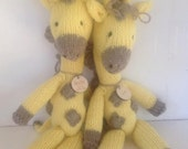 Natural Stuffed Animal - Waldorf Toy - Eco Kids Toy - Giraffe - Organic