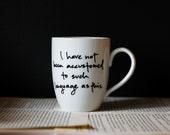 Such language as this - Pride and Prejudice mug - Jane Austen - quote mug