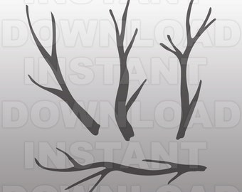 Tree Branches SVG File Tree Limbs svg Tree svg Forest svg Woodland svg Twigs svg Silhouette svg Cricut svg For Commercial & Personal Use