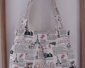 Linen Pleated Handbag Purse Ipad Netbook Tote  Travel Journal